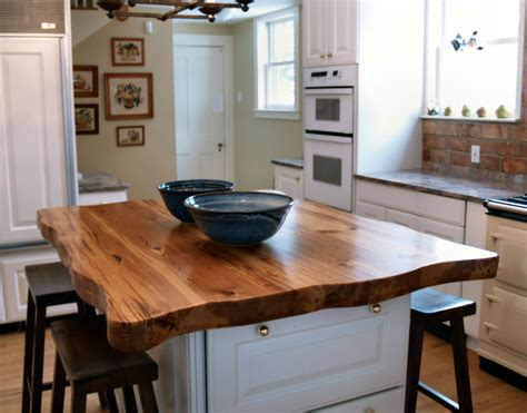 wood top kitchen island 20 wooden kitchen countertops