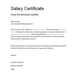Certification Letter Receiving Money salary certificate template 25 free word excel pdf psd documents