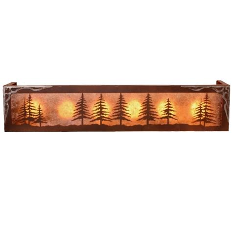 Cabin Vanity Lights Pine Tree Vanity Light