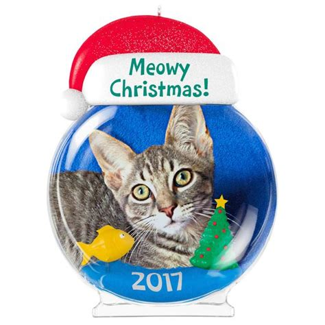 hallmark cat ornaments 2017 meowy cat photo holder hallmark keepsake ornament hooked on hallmark ornaments
