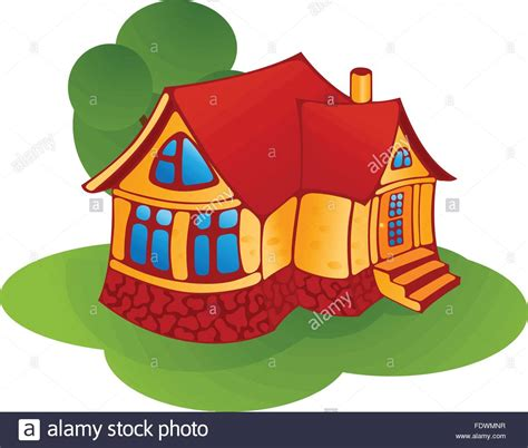 small cartoon house illustration shows done style isolated illustration of isolated cartoon house stock vector art