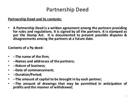 Business Partner Agreement Template indian partnership act