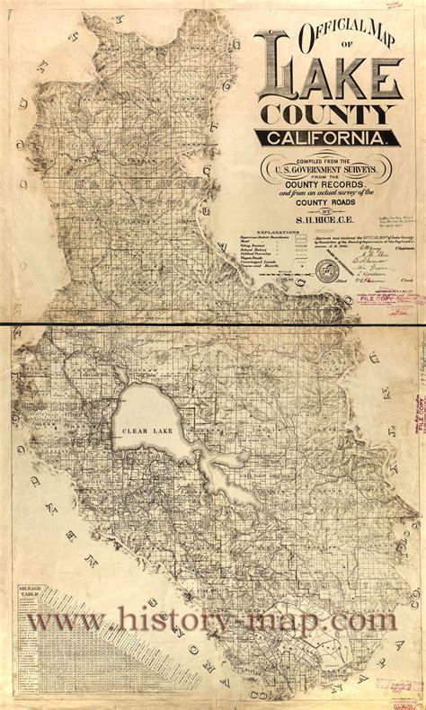 lake county california map the history of lake county california