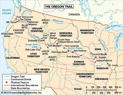 map of oregon landmarks oregon trail historical trail united states