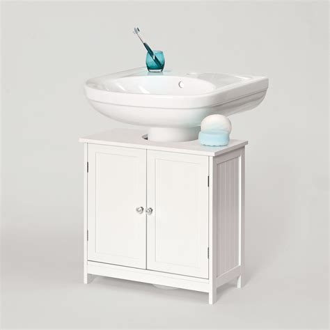 Under Sink Bathroom Storage Cabinet | white under sink savona bathroom storage cabinet with