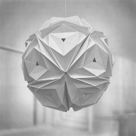 Origami Light Fixture - sustainable orgami lights yanko design