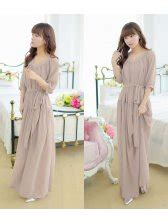 fashion trend styling chiffon solid color v neck half