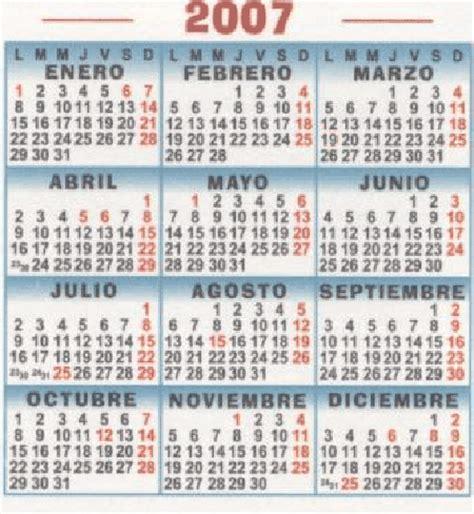 Calendario Enero 2007 Enero 2007 De Madrid P 225 2