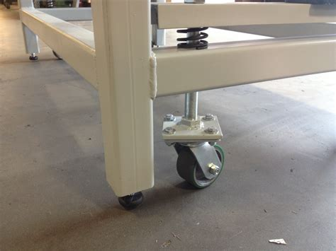 work bench wheels heavy duty workbench on retractable casters wheel and caster