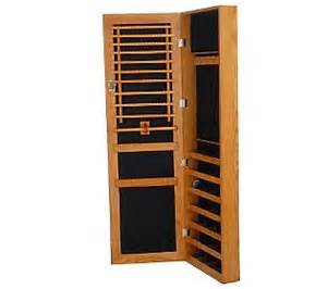 lori greiner jewelry armoire gold silver safekeeper jewelry cabinet w wall mount by