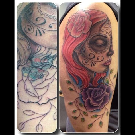 chest tattoo cover up before and after before and after cover up done today redlotuscastlebrom