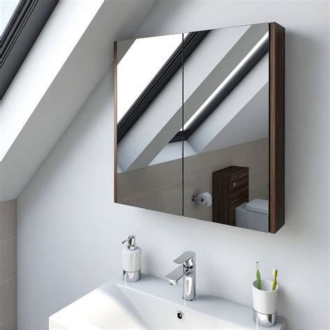 walnut bathroom mirror walnut 2 door bathroom mirror cabinet victoriaplum