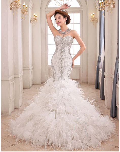 mermaid wedding dresses with feathers search wedding ideas wedding gowns wedding
