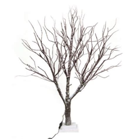 3 led lighted frosted brown twig tree table top