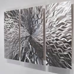 Silver Metal Wall Decor by Modern Abstract Metal Wall Sculpture Contemporary