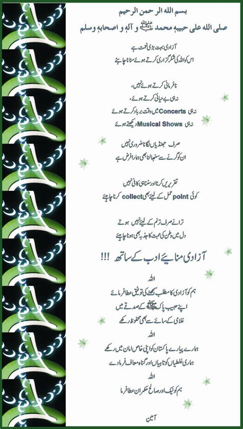 Azadi Aik Naimat Essay In Urdu by Azadi Mubarik Islamic Messages Islamic Pictures Hadith Golden Thoughts By Muslims What