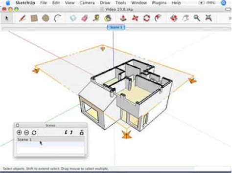 sketchup sections sketchup creating section animations with scenes youtube
