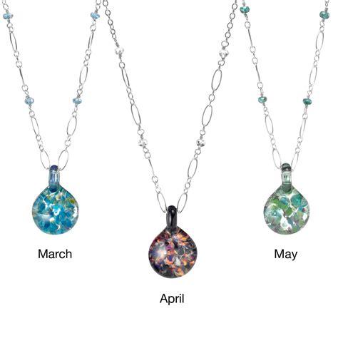 Birthstone Jewelry by Glass Birthstone Necklace Birthstones Necklaces Gems