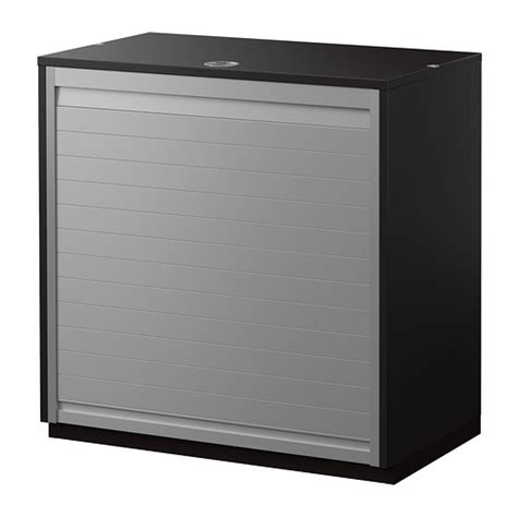 Front Cabinet Galant Roll Front Cabinet Black Brown 80x80 Cm Ikea