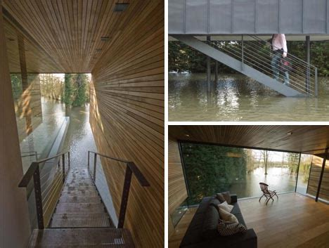 house over water lofted living elevated home literally sits on the water