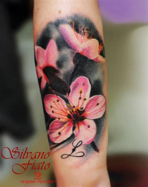 best flower tattoos pink cherry blossoms silvano fiato the best