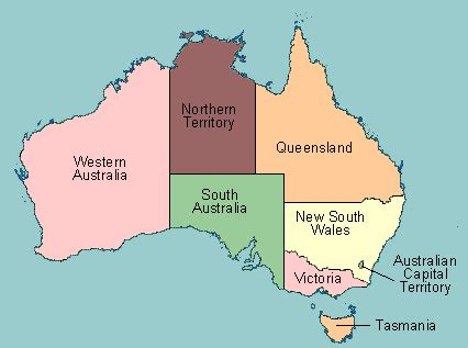 australia province map test your geography knowledge australia states and