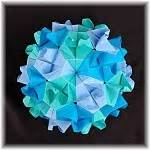 Exquisite Modular Origami - blintz fish model 2