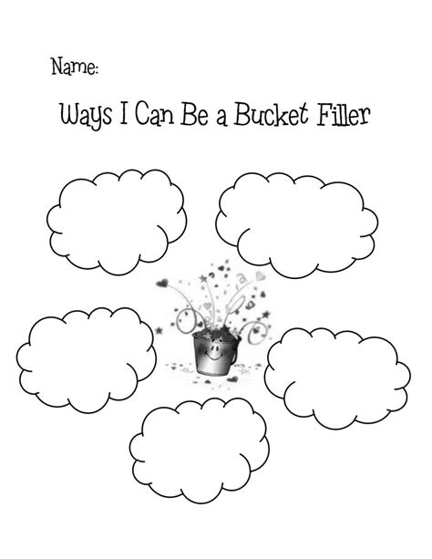 8 best images of bucket filler printables pdf bucket