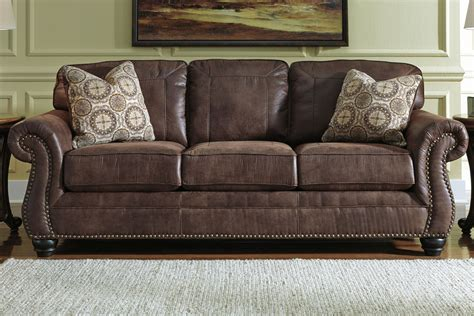 couch with nailheads breville sofa with nailhead trim at gardner white