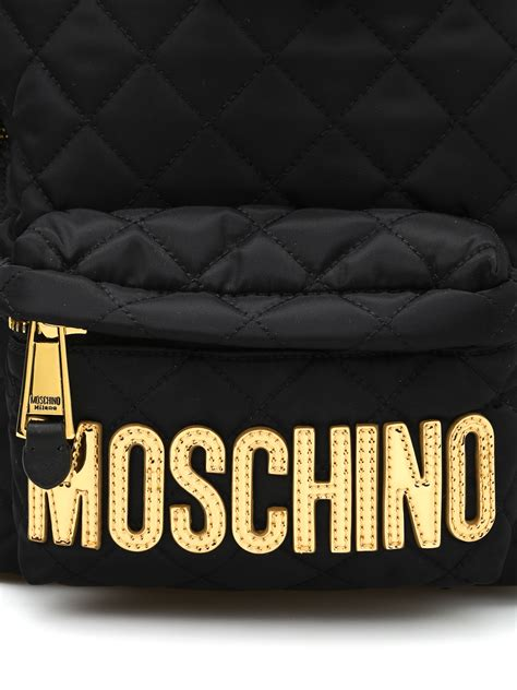 Lettering Backpack logo lettering quilted backpack by moschino backpacks