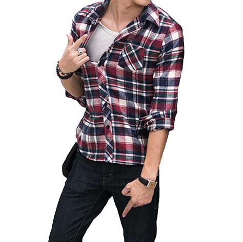 checkered shirt pattern name 2018 wholesale korean fashion men shirt plaid check