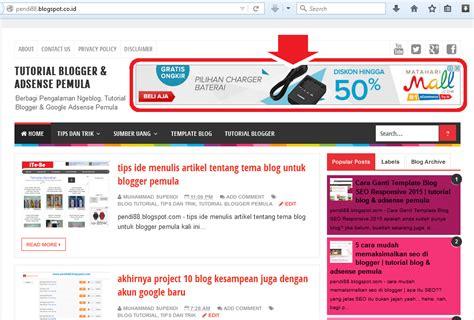 tutorial adsense blogspot cara menilkan iklan di blog pertama kali diterima