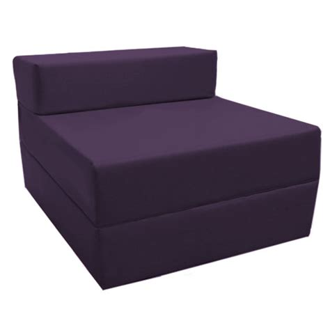 purple fold out guest sofa z bed sleeping mattress studio