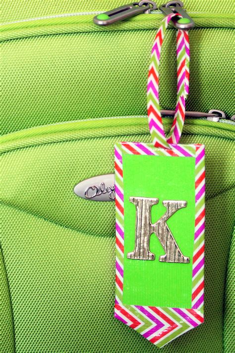 Things We Can Make With Paper - diy duct and leather luggage tags kavett