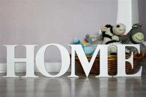 Home Letters personalizing interior decorating with diy wooden letters