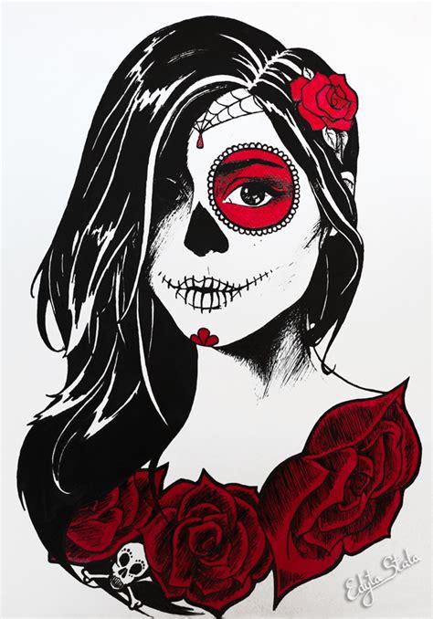 dia drawing dia de los muertos by stalae on deviantart