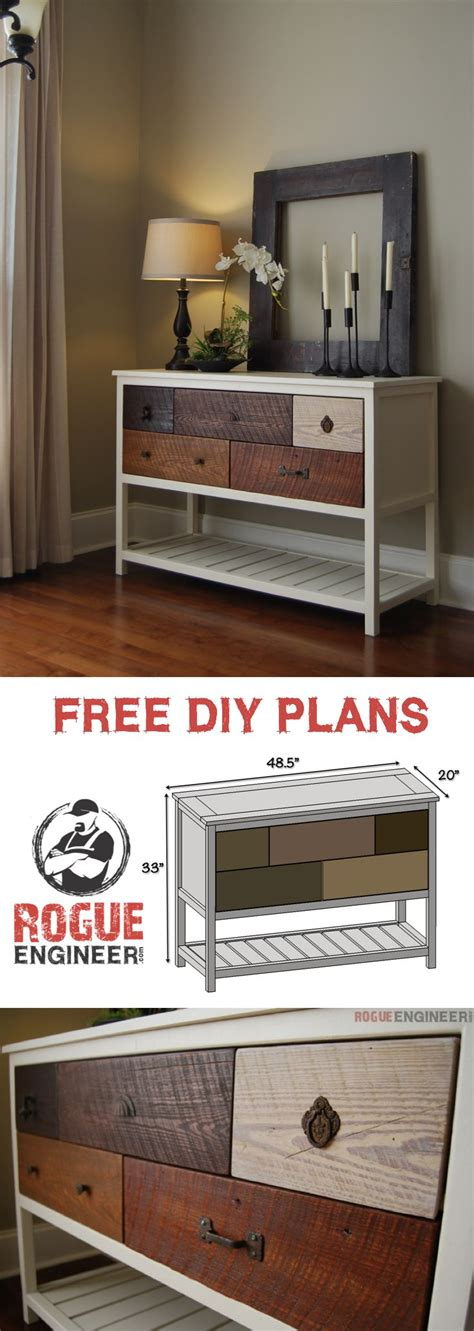 Diy Console Table Plans Best Diy Crafts Ideas For Your Home Free Console Table Plans Rogue Engineer Diypick