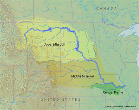 map of usa missouri river mississippi river map