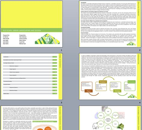powerpoint pitch book template template for the report