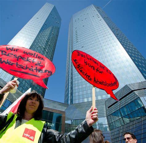 tarifabschluss banken strategie deutsche bank chefs erkl 228 ren den postbank