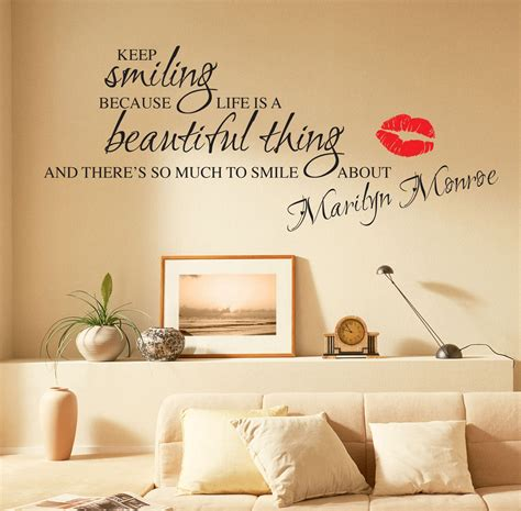 ebay wall stickers quotes marilyn wall stickers quotes decals w55 ebay