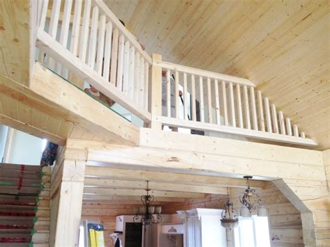 Sanding Handrails Sunbeam Valley Log And Timber Construction Of Prince