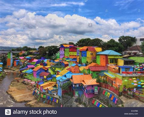 Java East jodipan colorful in malang east java island