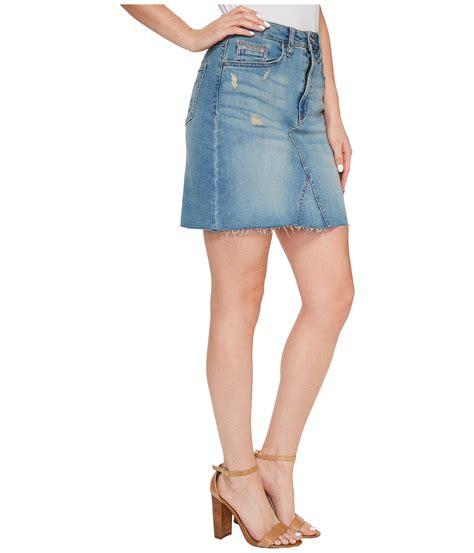 calvin klein a line denim skirt at zappos