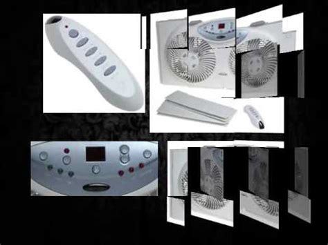 feature comforts window fan bionaire bw2300 twin window fan with remote control youtube