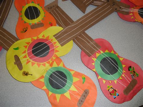 guitar craft for patties classroom cinco de mayo mariachi guitars and corn