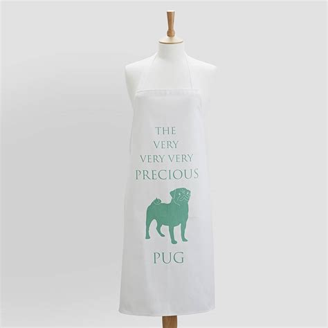 pug apron pug apron by bottle green homes notonthehighstreet