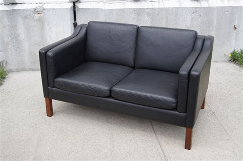 black settees black leather settee in the style of borge mogensen for