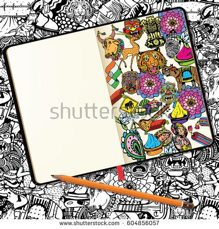 doodle notebooks india stock images royalty free images vectors