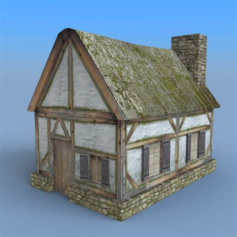 medieval houses medieval house 3d model